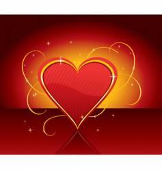 present heart vector image