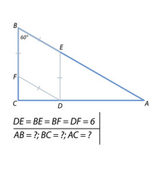 problem of finding the sides of the triangle-01 vector image