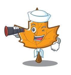 sailor maple character cartoon style vector image