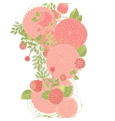 Seamless floral line vector