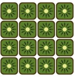 seamless kiwi pattern vector image