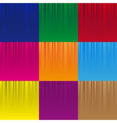 set of various color striped abstract pattern vector image