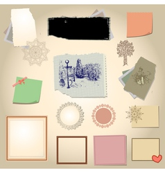 Set scrapbook vector