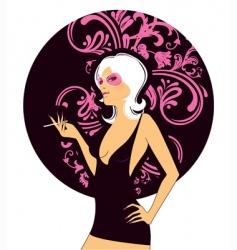 Sexy pink women vector