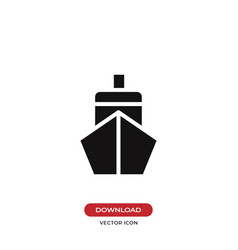 ship front icon vector image