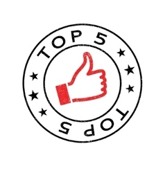 Top 5 rubber stamp vector