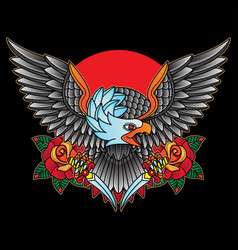 traditional tattoo eagles vector image