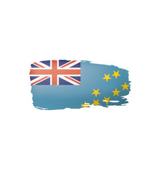 tuvalu flag on a white vector image