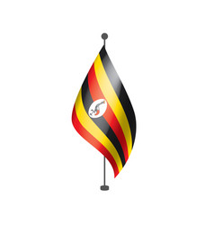 Uganda flag on a white vector