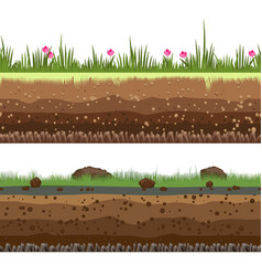 Underground layers seamless background vector