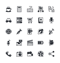 User interface and web colored icons 7 vector