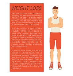 Weight loss man poster text vector