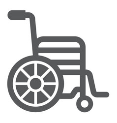 wheelchair glyph icon medical and equipment vector image