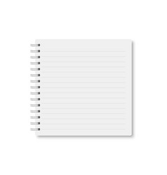 White realistic a5 notebook closed with shadow vector