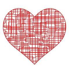 Wire heart vector image