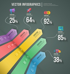 abstract infographic flat design Workflow layout vector image vector image