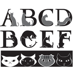 cat font vector image vector image