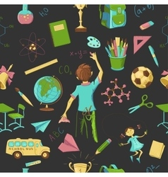 Colored Seamless pattern school vector image vector image
