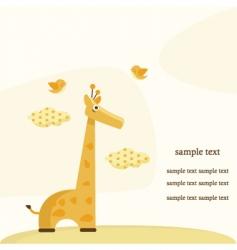 giraffe background vector image vector image