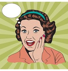 happy woman commercial retro clipart vector image vector image