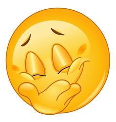 hiding smile emoticon vector image