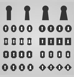 set of keyholes vector image