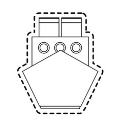 ship frontview icon image vector image vector image