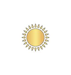 sun computer symbol vector image vector image