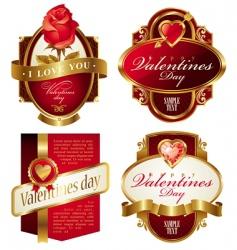 Valentine's frames vector image vector image