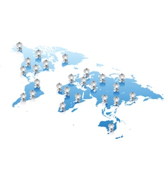 World map communications concept vector image