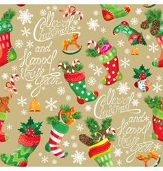 X-mas and New Year background with Christmas stock vector image vector image