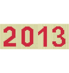 2013 woven numbers vector image