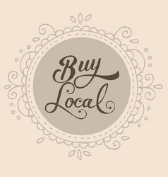 buy local text sign symbol badge label vector image