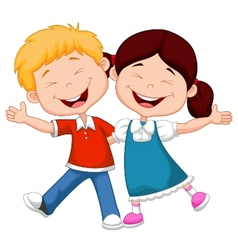 Happy children cartoon vector image vector image