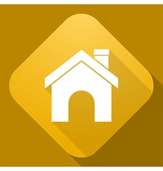 icon of House with a long shadow vector image vector image