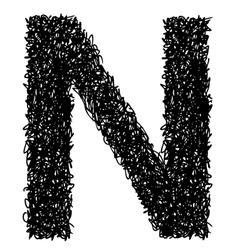 alphabet N vector image vector image