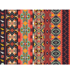Aztecs seamless pattern on hot color vector image vector image