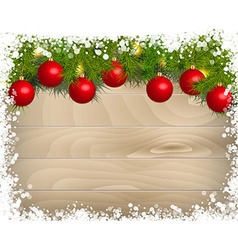 Christmas decoration Background Template vector image