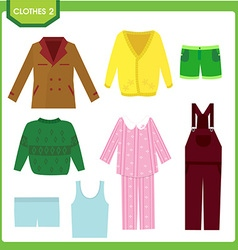clothes2 vector image vector image