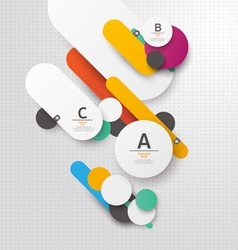 Colorful flat background vector image vector image