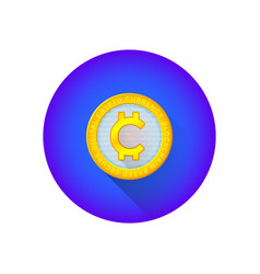 cryptocurrency global symbol icon vector image