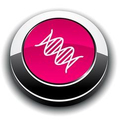 Dna 3d round button vector