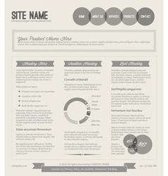 Retro web page template vector