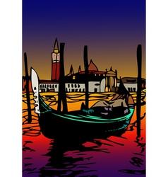 Gondola a San Marco vector image vector image