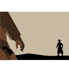 Old West Gunfight or Duel vector image