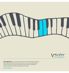 Piano keys sketch vector image vector image