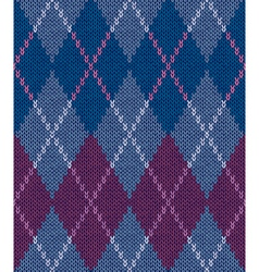 Style Seamless Color Knitted Ornament Pattern vector image vector image