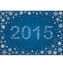 2015 title from snowflakes vector