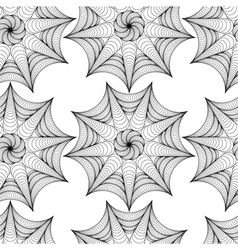 Abstract pattern with lined symmetric fig vector image