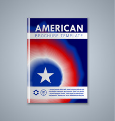 american brochure or book cover template on grey vector image
